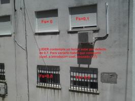 Factor Solar de protecciones solares, persianas