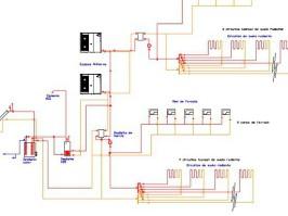 Esquema instalación térmica